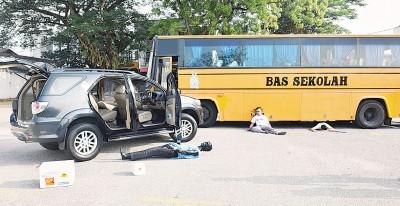 槟州卫生局首处车祸紧急抢救演习,一定逼真。