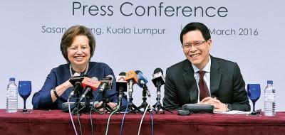 洁蒂与泰国银行总裁威拉泰并推介马泰本地货币结算框架。