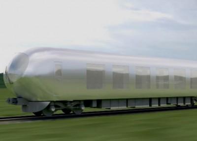 乍列车的车身能够体现沿途景色。贪图为列车设计图。