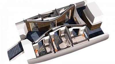 新设计有4个单人房间、2个双人房间。