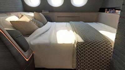 双人房间的沙发可摊开成一张双人床。
