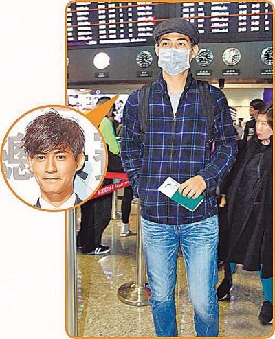 仔仔现身桃园机场赴中国工作,戴口罩的客见记者采访低调不晓。