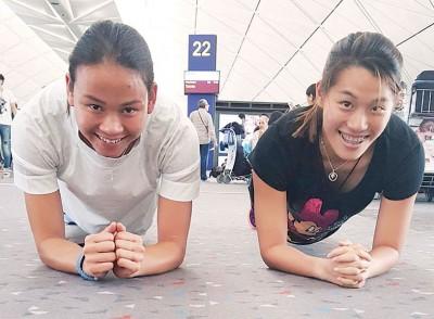 潘德蕾拉(左)跟吴丽颐啊我国以里约奥运会争夺奖牌的筹码之一。