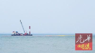 在新关仔角近海峡岸海域未开始填海工程。