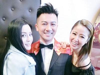 范冰冰(左起)、苏有朋出席站台,力挺林心如的新片。