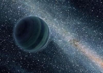 科学家在太阳系外围发现这颗新的星球。图为构想图。