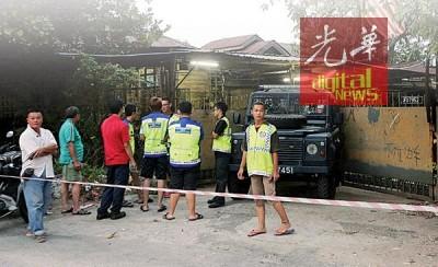 事发后,乐得警卫团员在场协助维持秩序。