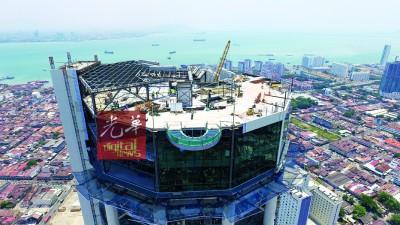 东南亚首只高空走道就是光大顶楼。