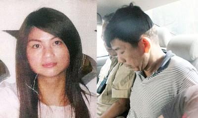 涉嫌杀害28女护士张花香(左)的被告莫顺和(右)被押送法庭面控谋杀。