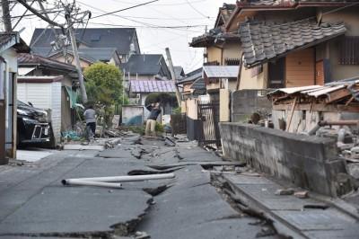 地震造成严重损毁。(法新社照片)