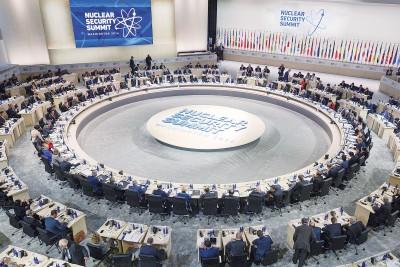 核安全峰会在华盛顿召开,欧巴马警告,绝不能让极端分子或恐怖分子,取得核武或核原料。(法新社照片)