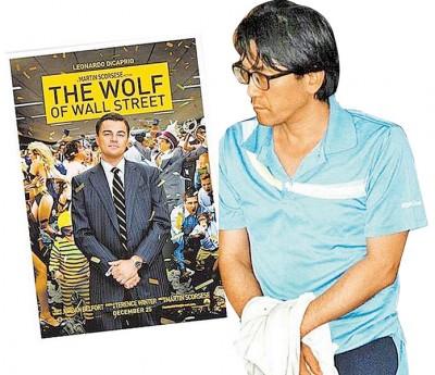 罗栩亮(右图)用假财报、名人站台假象在台吸金,宛若电影《华尔街之狼》翻版。