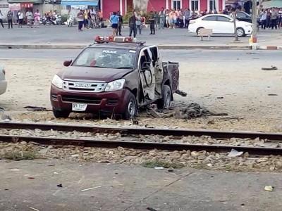 爆炸案导致警员1死1伤。