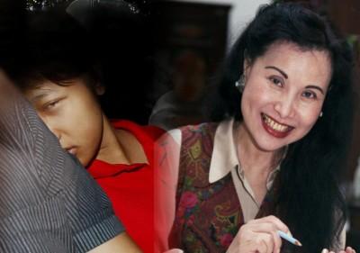 印尼籍女佣蒂薇·苏科瓦蒂(左)。死者颜婉玉是凡狮城知名彩墨画家,龙腾虎跃于地方慈善活动。