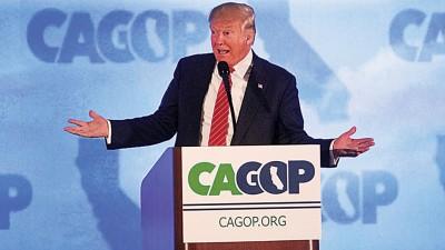 """特朗普谈到美国对中国的贸易逆差时,以""""强奸""""一词来形容。(法新社照片)"""
