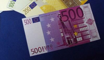 欧洲央行宣布,将在2018年杪永久停止印制和发行500欧元面值的纸币。(法新社照片)