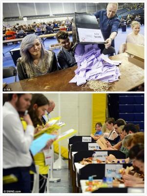 各选区将陆续公布结果。
