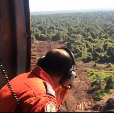 空中搜救行动。