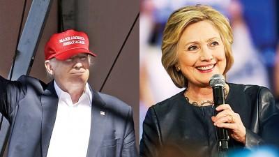 有的是共和党人拒绝支持特朗普。右图为希拉莉。