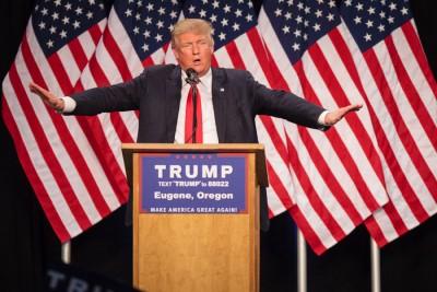 特朗普在共和党内没有对手,支持度大幅上升。(法新社照片)