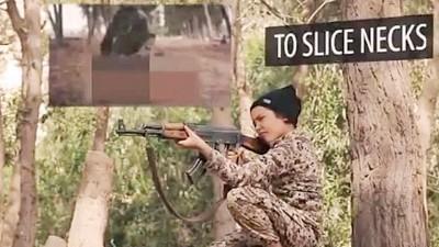 IS发布新片段,显示出一批童兵训练情况。