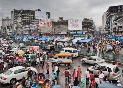 孟加拉近日发生多宗怀疑宗教仇杀事件,图为首都达卡市貌。