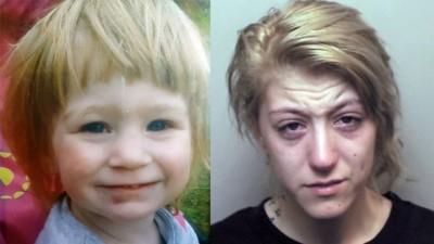 史密斯(右)及其惨死的亲女(左)。