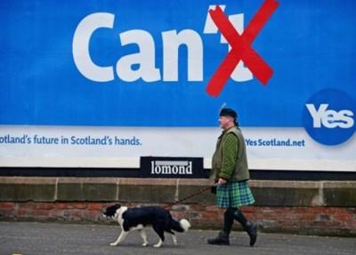 苏格兰曾举行独立公投,但选民决定留在英国,小图为萨蒙德。