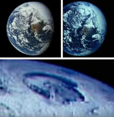 卫星图片显示在北极有巨型坑洞。