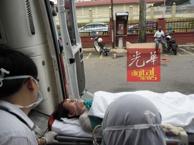 死者当时于受灼伤后送往医院抢救。