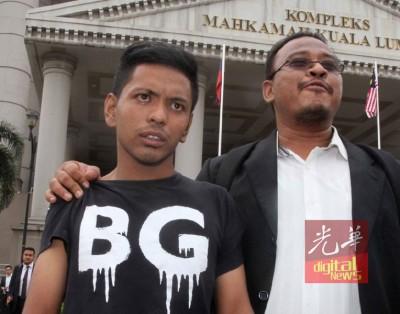 沙鲁阿努亚(左)偷窃罪成,可提出上诉讨回清白。(档案照)