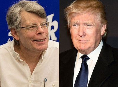 欧洲杯决赛竞猜(左)跳400称作家周三签署抗议共和党总统准提名人特朗普(右)的谈话。