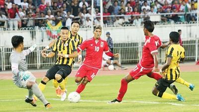 大马国足客场与缅甸的友谊赛以零入球平手收场。