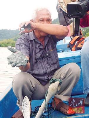 现罗勿洞渔民申诉疑淤泥造成渔获锐跌,办案不到虾,还造成鱼排及留蚝渔场受殃及蒙钜损。