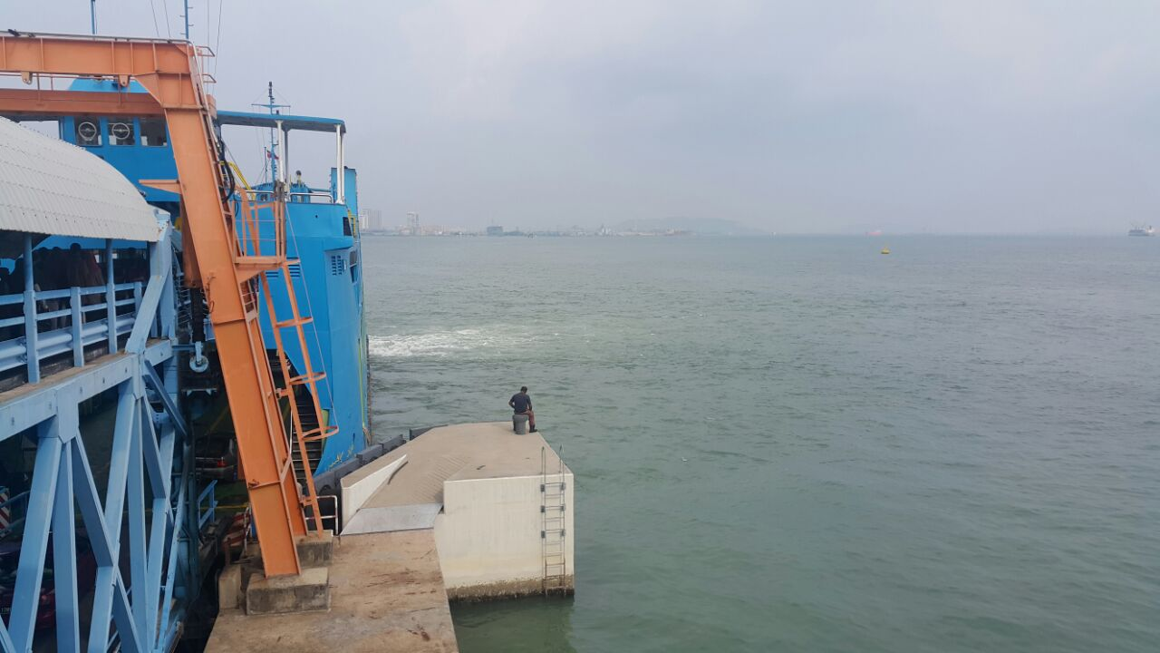 消防队在码头附近搜查,寻找坠海人士。