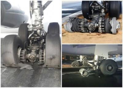该班客机的半数轮胎爆破。
