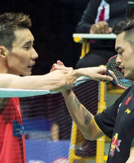 李宗伟首次两连胜林丹。