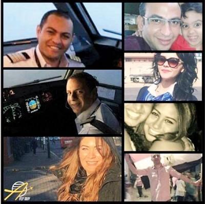 网上流传坠毁客机机组人员的肖像。