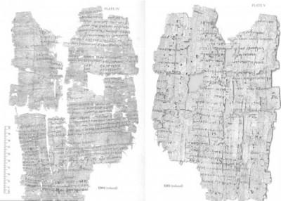 专家研究莎草纸上的文字。(互联网图片)
