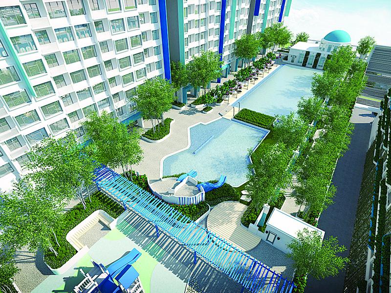 由于地点靠海,所以I-Santorini公寓巧妙地采用了希腊圣托里尼的概念,此概念深受购屋者的欢迎。