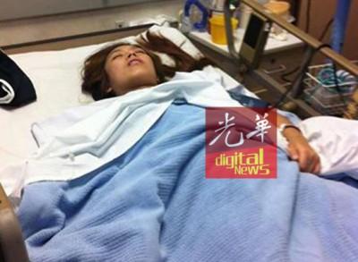 恐面临半身不遂,林雪薇急需10万令吉进行第二次手术。