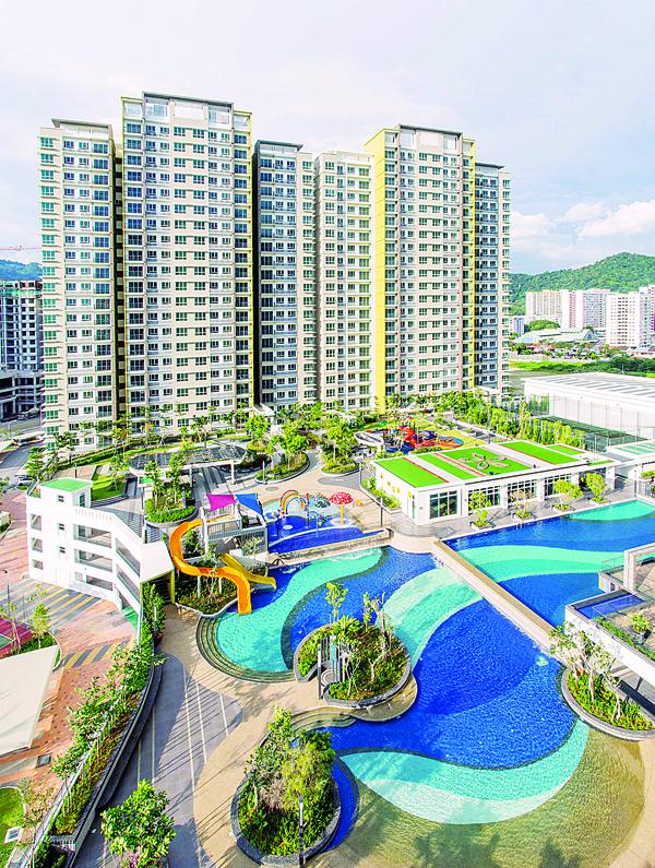 集团旗下位于槟城新港 One Imperial公寓获得好评连连,此公寓计划的发展概念,是一个主题公园度假式的公寓。