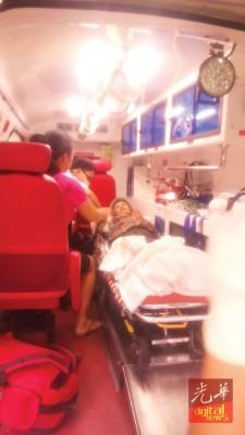 曾老妇获救时,人只是稍疲弱,但其意识清醒。