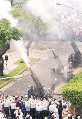 蔡英文就职,陆军礼炮21响致敬。