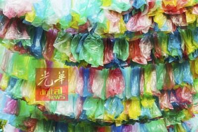 垃圾分类不须以不同颜色塑料袋来区会。