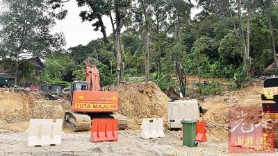 米桶山路如火如荼进行,目前完工7.2%,进度比预期超前10天。