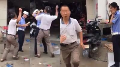 男子被喻将圈查其摩托车时,进打女警。男子不断袭击女警的首。该男子最终以涉嫌妨害公务罪被公安部行政拘留。