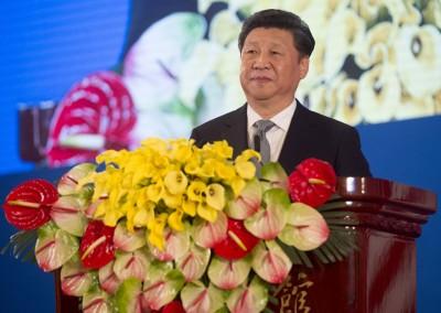 中华国家主席习近平当开幕式上致辞,要中美通过经常性沟通积累战略互信。(法新社照片)