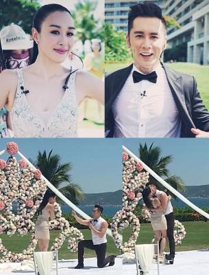 张伦硕于节目中突然拿出戒指并就膝下跪,以镜头前向钟丽缇求婚。