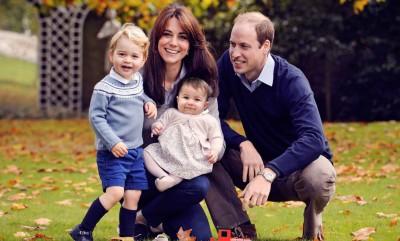威廉王子(右一)慨叹网络欺凌严重,担心乔治(左一)及夏洛蒂(前中)长大后受害。